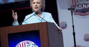 Hillary Clinton speaks to the NABJNAHJ conference in Washington DC