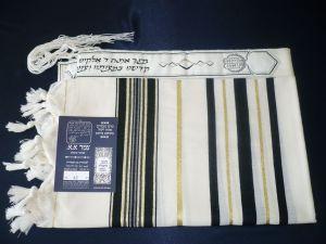 Black and gold striped Prima Tallit