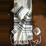 Black and Silver Tallit by Gabrieli Hand Weaving