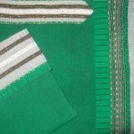 Gray and Green Tallit