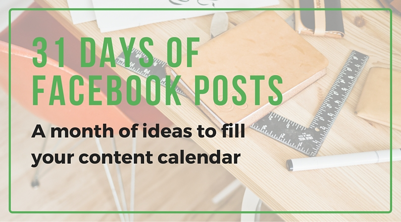 31 Days of Facebook Posts