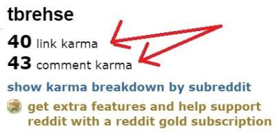 Reddit link karma
