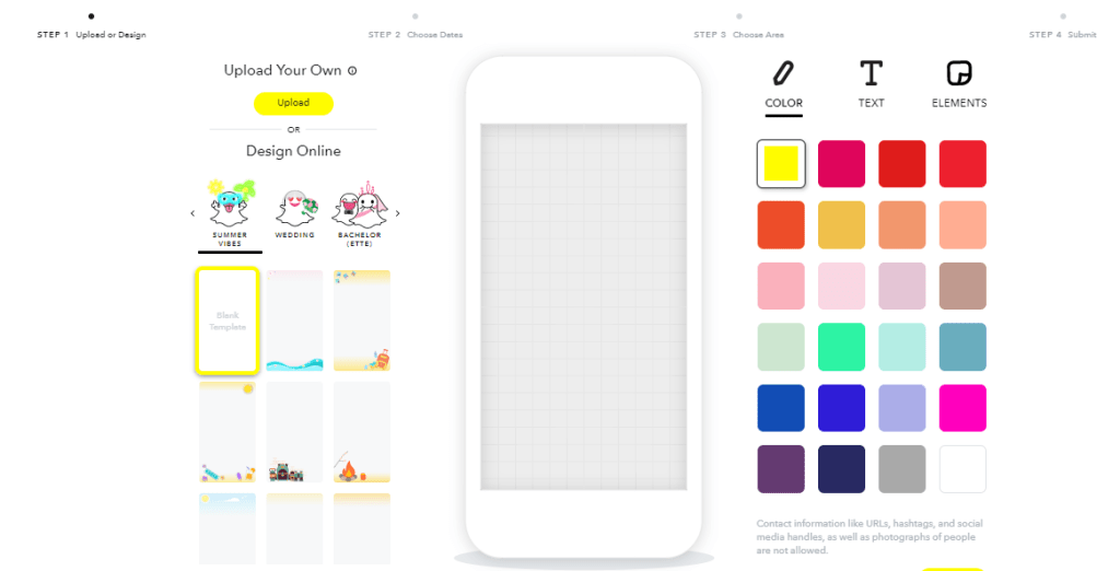 Create a snapchat geofilter