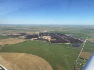 Mike Callicrate flew me over this JBS feedlot in eastern CO - 130,000 cattle in that lot.