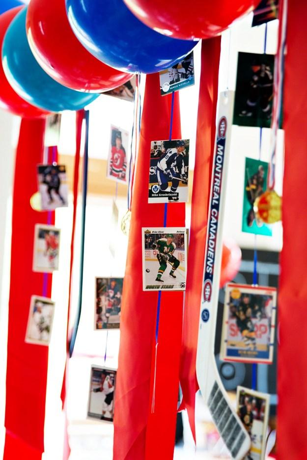 hockey-card-garland
