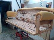 Restauro Divano usato quattro posti con seduta in molle