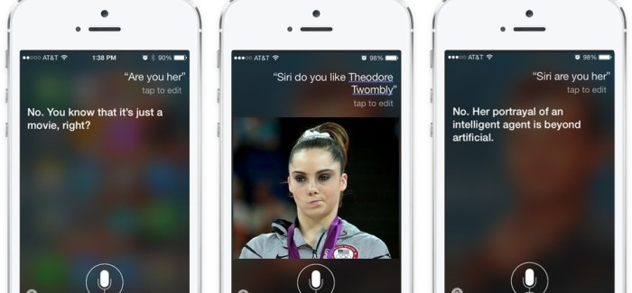 Siri Unimpressed by Scarlett Johansson in 'Her'