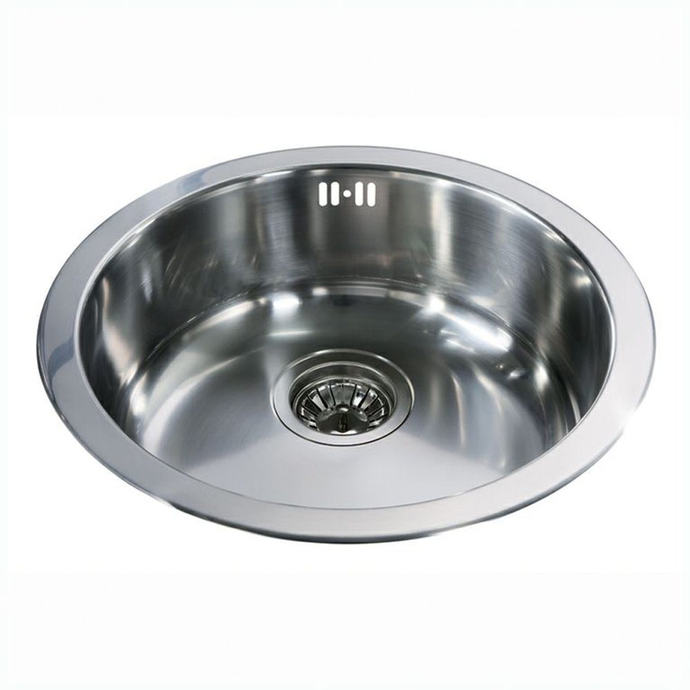 cda stainless steel round bowl kitchen sink kr21ss p2209 96532 zoom