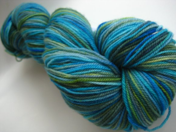 Teal SpaceCadetCreations yarn handdyed