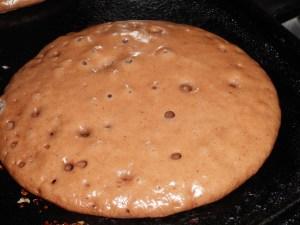 pancakes ready to flip
