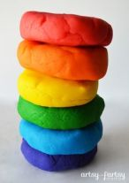 rainbow playdough