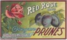 vintage prune label