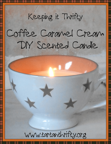 Coffee Caramel Cream DIY Candle from Tartan Thrifty