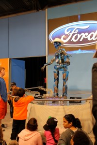 A kinda creepy robot at the Auto Show.