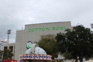 The famous Cotton Bowl. It has been in continuous operation since 1930. That day, Grambling State & Prairie View A&M played. I thought about buying a ticket just so I could see Grambling's band.