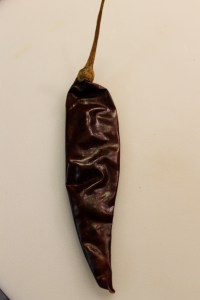 Pasilla Chilie: dried Chilaca pepper.