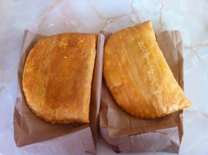 Authentic Jamaican Meat Patties. Delicious.