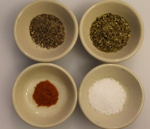 The seasonings I used: