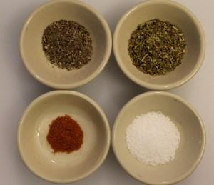 The seasonings I used:
