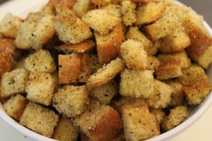 The finished croutons. Easy, right?