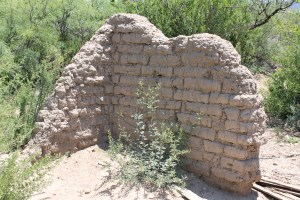I'm not sure if this was the old ranch house or a barn. Looking at the foundation, such as it was, it was very small.