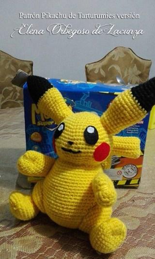Patrón Pikachu de Tarturumies versión Elena Orbegoso de Lacunza