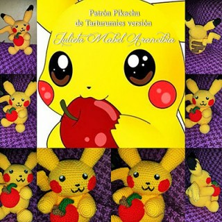 Patrón Pikachu de Tarturumies versión Julieta Mabel Arancibia