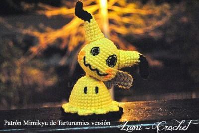 Patrón Mimikyu de Tarturumies versión Lumi-Crochet