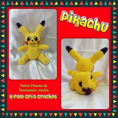 Patrón Pikachu de Tarturumies versión Carole Alvarez