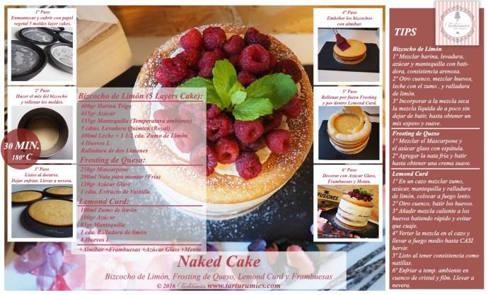 Receta Naked Ccake de Limón Tarturumies