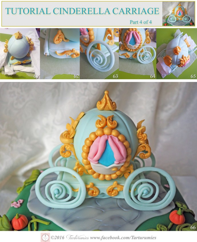 Tutorial of Cinderella Carriage in Fondant Part 4