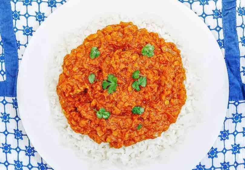 Syn Free Slimming World Slow Cooker Red Lentil Curry