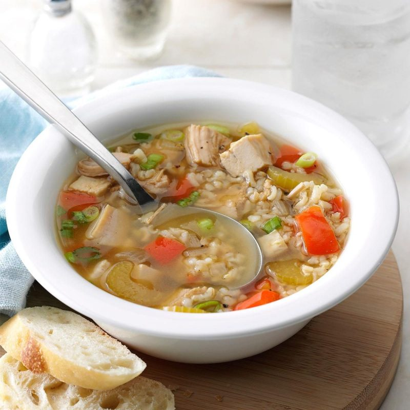 Large Of Turkey Rice Soup
