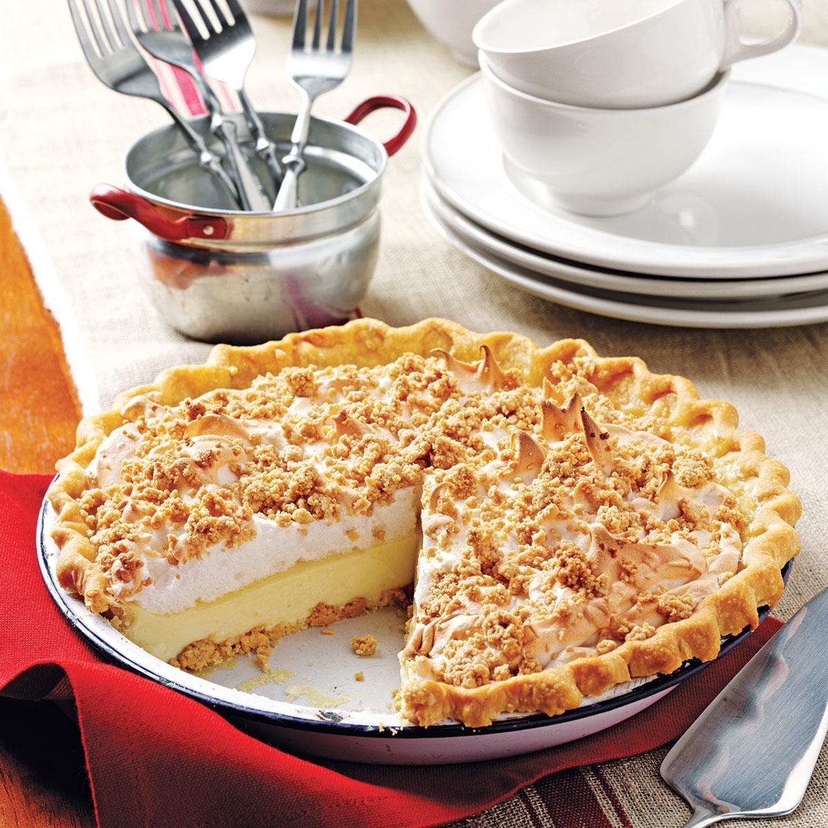 Superb Peanut Butter Meringue Pie Exps135214 Cw1996974b03 16 2bc Rms 1 Custard Pie Recipe Betty Crocker Custard Pie Recipes Food Network nice food Custard Pie Recipe