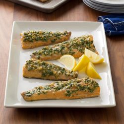 Sparkling Plank Grilled Ginger Herb Trout Exps Ghtaj17 71677 C05 03 12b 1024x1024 Grilled Speckled Trout Recipes Grilled Trout Recipes Bay Seasoning