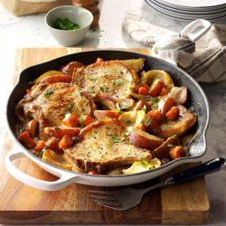 Phantasy One Skillet Pork Chop Supper Exps Miopbz17 13875 D10 13 6b Easy Sunday Dinner Ideas Uk Easy Sunday Dinner Casserole