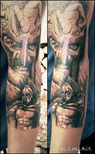 tatouage spartiate sparte 300 tattoo