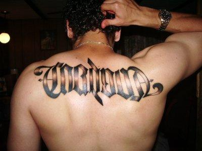 Awesome Ambigram Tattoo Designs of 35 by Michael