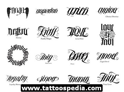 Awesome Ambigram Tattoo Designs of 2 by Michael