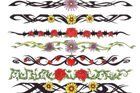 flower armband tattoo design