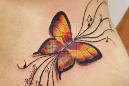 colorful erfly tattoo design