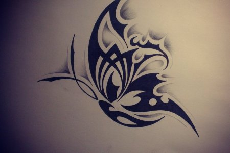mind ing tribal erfly tattoo design