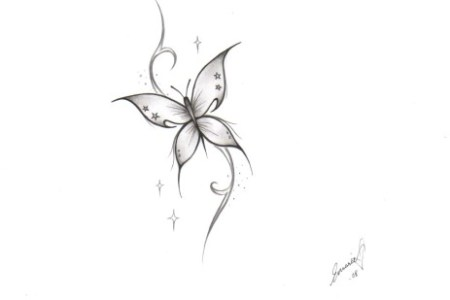 simple erfly tattoo design