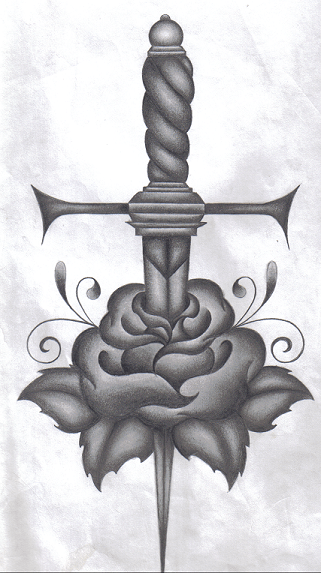 Tribal Dagger Tattoo Poster of 4 by Danielle