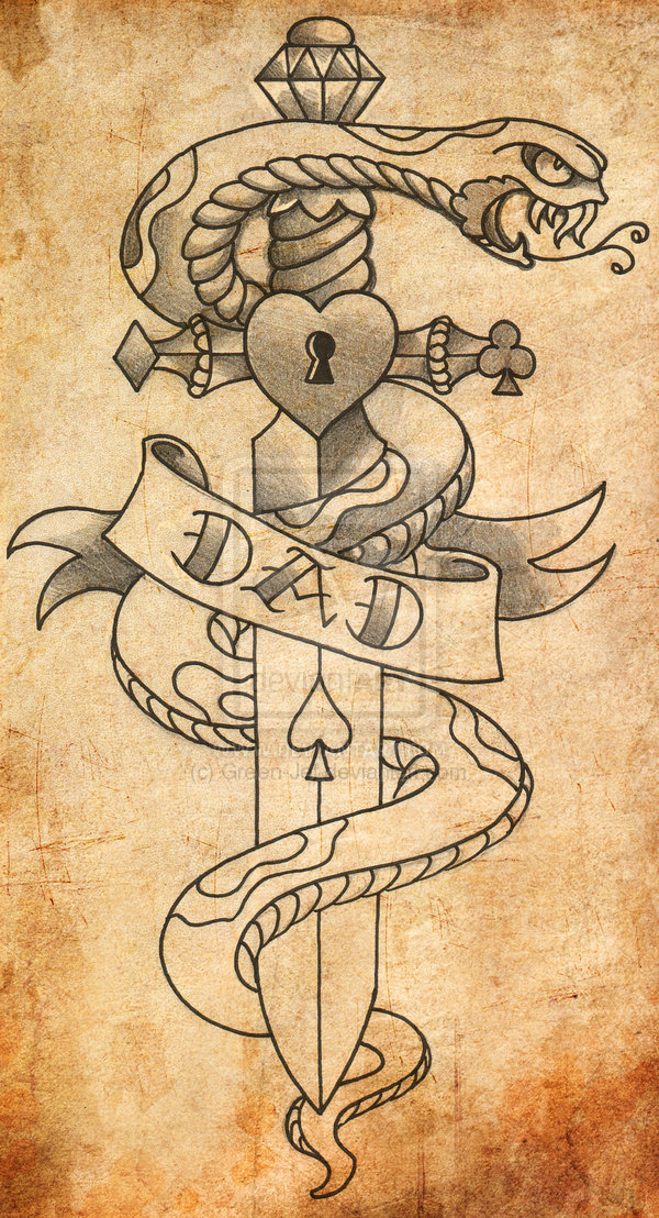 Tribal Dagger Tattoo Poster of 15 by Danielle