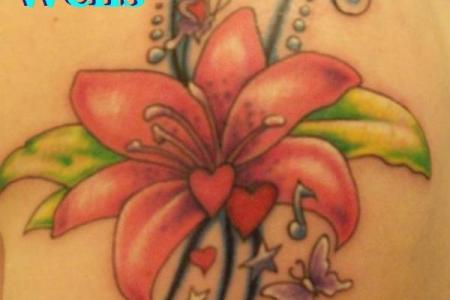 custom flower tattoo design