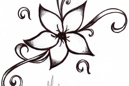 simple flower tattoo design 2