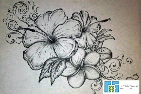 flowers tattoo art