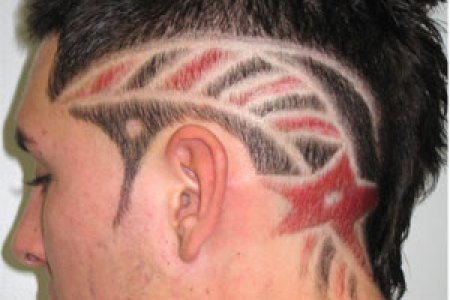 funny hair tattoo design