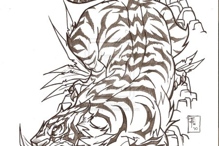 anese style tiger tattoo design